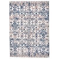 Grand Bazaar Speyer Dark Gray/ Birch Wool Rug (6'-7 X 9'-6) - 6'7 x 9'6