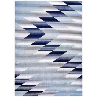 "Grand Bazaar Crowford Gray/ Light Blue Wool Rug - 10'4"" x 13'6"""