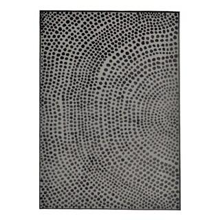 """Grand Bazaar Javers Castle/ Dark Gray Wool Rug - 6'7"""" x 9'6"""""""