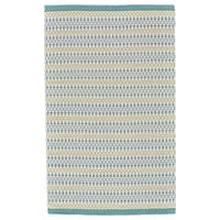 Grand Bazaar Naim Turquoise/Lime Wool Area Rug - 8' x 10'