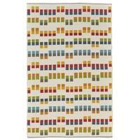 Grand Bazaar Bashia Yellow/Multi Wool Rug - 8' x 10'