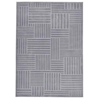 "Grand Bazaar Speyer Gray/ Platium Wool Rug - 6'7"" x 9'6"""