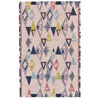 Grand Bazaar Fariza Light Pink/ Gray Wool Rug (8' X 11') - 8' x 11'