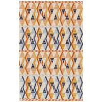 Grand Bazaar Fariza Orange/ Blue Wool Area Rug - 8' x 11'