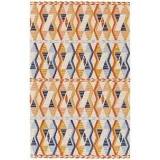 Grand Bazaar Fariza Orange/ Blue Wool Area Rug (8' x 11')