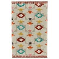 Grand Bazaar Fariza Ivory/Crimson Wool Rug (8' x 11')