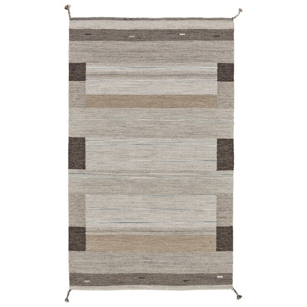 Grand Bazaar Brampton Grey Wool Area Rug - 8' x 10'