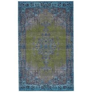 Grand Bazaar Vassar Teal Wool Rug - 8' x 11'