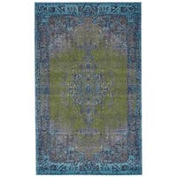 Grand Bazaar Vassar Teal Wool Rug - 8' x 11'