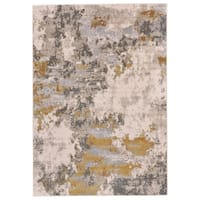 Grand Bazaar Vanhorn Gold/ Birch Wool Rug (5' X 8') - 5' x 8'