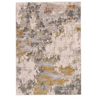 Grand Bazaar Vanhorn Gold/ Birch Wool Rug - 5' x 8'