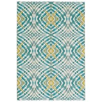 Grand Bazaar Arsene Teal Area Rug (5'3 x 7'6)