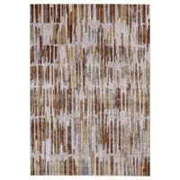 "Grand Bazaar El Dorado Taupe/ Dark Gold Area Rug - 2'2"" x 4'"