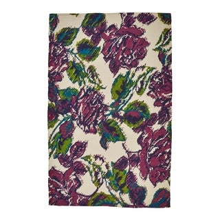 Grand Bazaar White/ Purple Area Rug - 5' x 8'