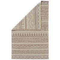 Grand Bazaar Harlee Grey/ White Wool Flatweave Area Rug - 5' x 8'