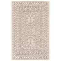 Grand Bazaar Eckels Collection Ivory/ Light Grey Hand-tufted Wool Area Rug (5' x 8')