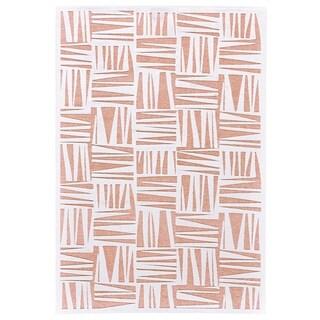 """Grand Bazaar Soho Lyra White/ Blush Wool Rug - 5'3"""" x 7'6"""""""