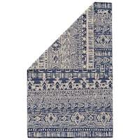 Grand Bazaar Harlee Cobalt/White Wool Rug - 8' x 11'