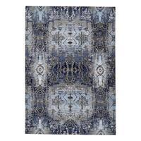 Grand Bazaar Javers Light Blue/ Sterling Wool Rug - 6'7 x 9'6
