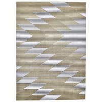 Grand Bazaar Crowford Gray/ Gold Wool Rug - 10' x 14'