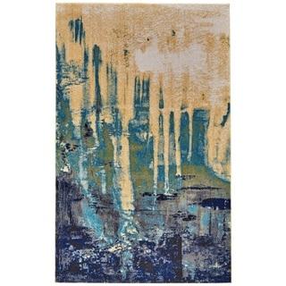 Grand Bazaar Potomac Green/ Blue Wool Rug - 8' x 11'