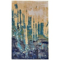 Grand Bazaar Potomac Green/ Blue Wool Rug (8' X 11') - 8' x 11'