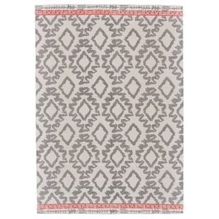Grand Bazaar Adia Grey/ Orange Area Rug - 8' x 11'