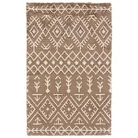 Grand Bazaar Noemie Coffee/ Cream Area Rug - 8' x 10'