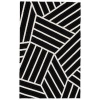 Grand Bazaar Aubrey Black/ White Area Rug - 8' x 10'
