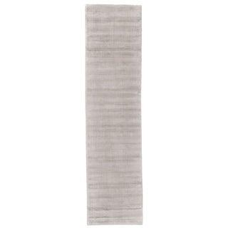 Grand Bazaar Knox Silver Wool Contemporary Runner Rug (2'6 x 10')