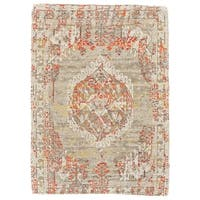 Grand Bazaar Mcclare Sage/ Green Wool Rug (5' X 8') - 5' x 8'