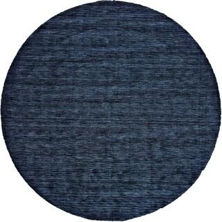 Grand Bazaar Celano Dark Blue Wool Rug (8' X 8' Round) - 8' x 8'