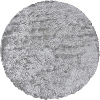 Grand Bazaar Freya Platium Wool Rug (10' X 10' Round) - 10' x 10'