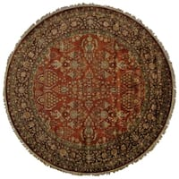 Grand Bazaar Bower Purple/Rust Wool/Cotton Rug - 8' x 8' Round