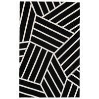 Grand Bazaar Aubrey Black/ White Wool Rug (5' X 8') - 5' x 8'