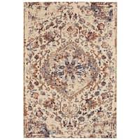 Grand Bazaar Zenith Cotton/ Silver Wool Rug (5' X 8') - 5' x 8'