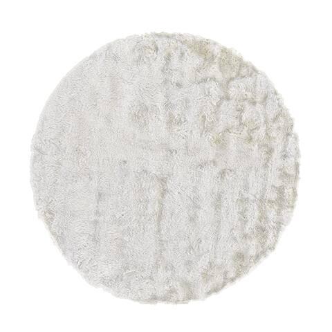 Grand Bazaar Freya White Wool Rug - 10' x 10' Round