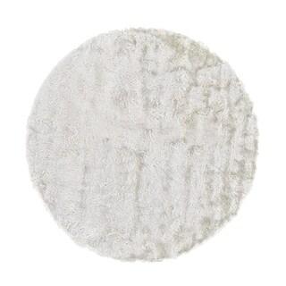 Grand Bazaar Freya White Wool Rug (10' X 10' Round) - 10' x 10'