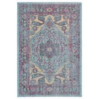 Grand Bazaar Tosca Aqua/ Multi Wool Rug - 5' x 8'