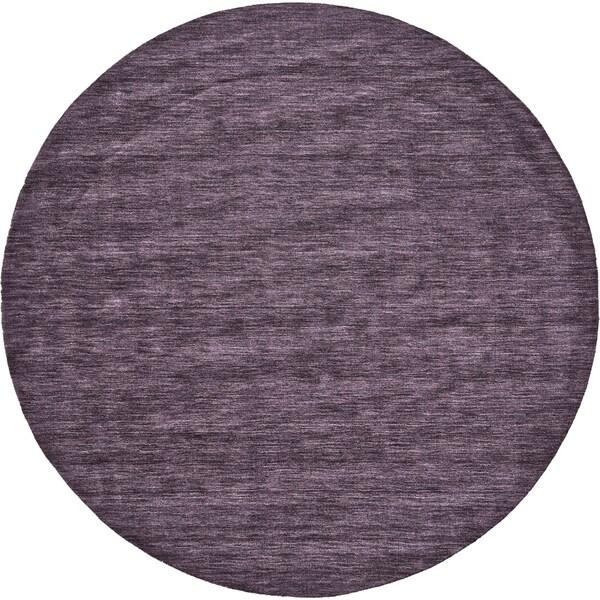 Grand Bazaar Celano Purple Wool Rug - 8' x 8' Round
