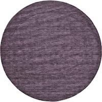 Grand Bazaar Celano Purple Wool Rug (8' X 8' Round) - 8' x 8'