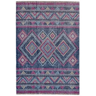 Grand Bazaar Tosca Teal/ Multi Wool Rug - 5' x 8'