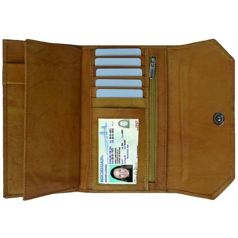 AFONiE Thin and Classic Genuine Leather Women's Wallet