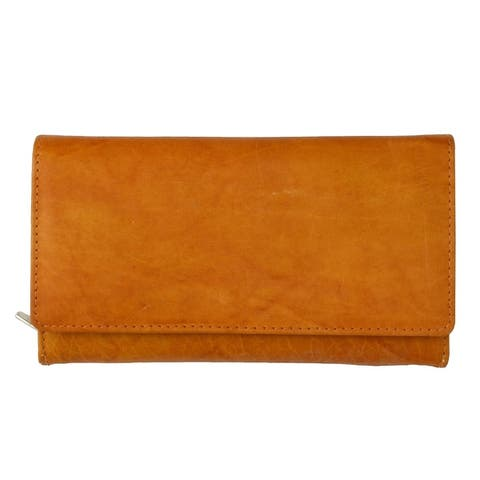 AFONiE All You Can Carry Leather Women Wallet - 11 x 7 - 11 x 7