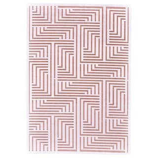 "Grand Bazaar Soho Lyra White/ Blush Wool Rug - 7'6"" x 10'6"""