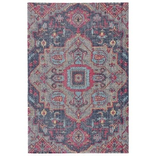 Grand Bazaar Tosca Teal/ Multi Wool Rug - 8' x 11'