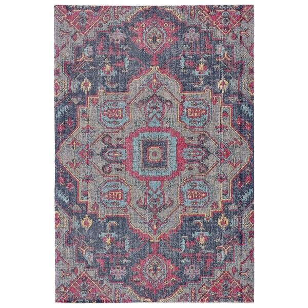 Grand Bazaar Tosca Teal/ Multi Wool Rug (8' X 11') - 8' x 11'