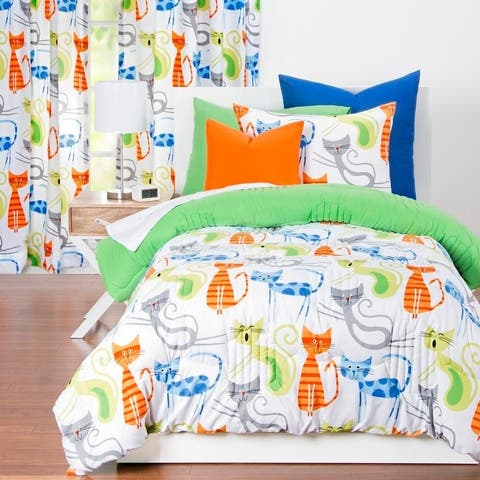 Learning Linens Smarty Cat 3-piece Comforter Set