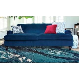 Grand Bazaar Potomac Coastal Blue Wool Rug - 8' x 11'