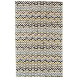 Grand Bazaar Aileen Gray/ Cream Wool Rug - 8' x 10'